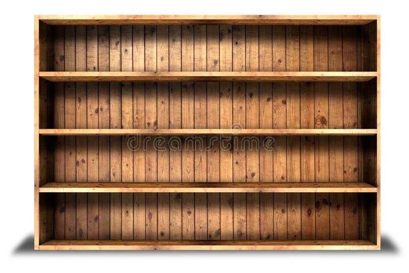 Starego grung drewniany szelfowy tło zdjęcie royalty free
