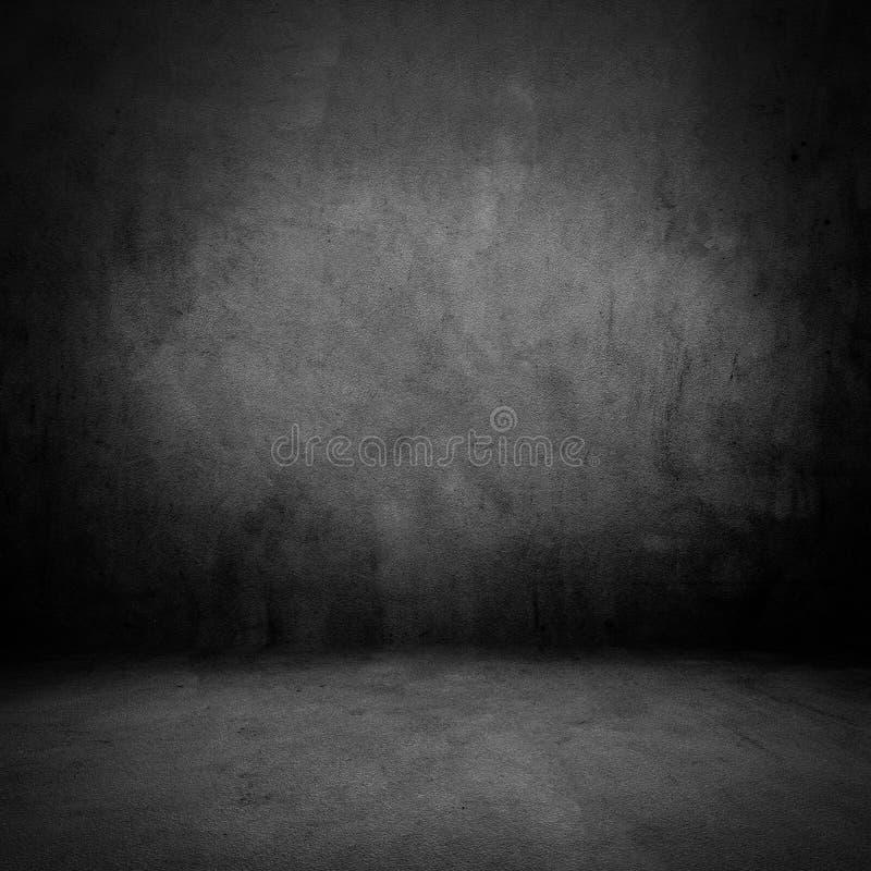 Starego grunge ciemny pokój zdjęcia royalty free