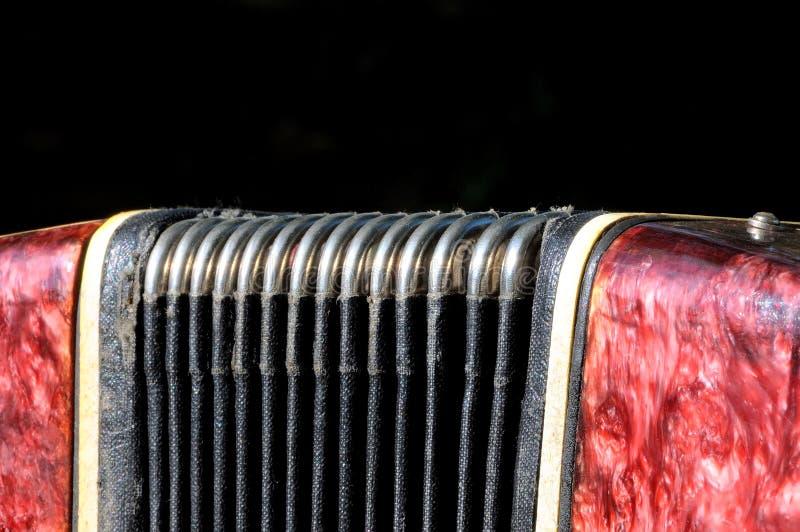 Starego instrumentu muzycznego Rosyjski bayan - guzika akordeon zdjęcie royalty free