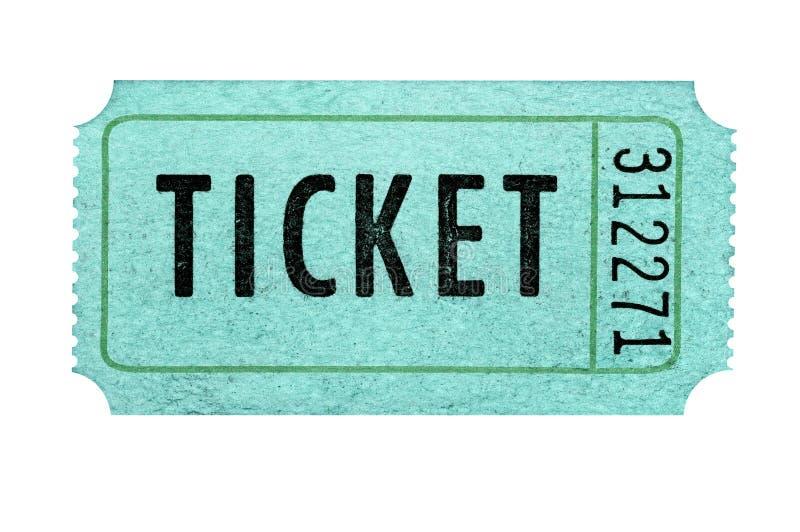 Starego kinowego filmu raffle bileta odosobniony biel zdjęcie royalty free