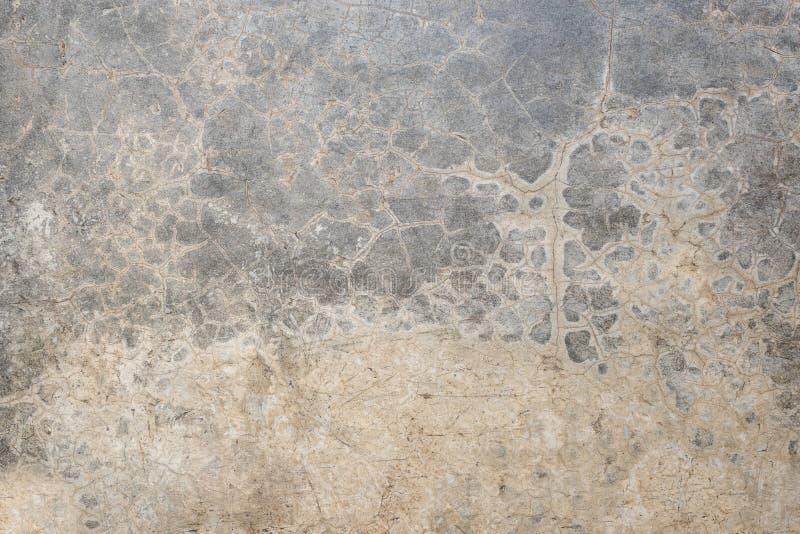 Starego krekingowego grunge tekstury popielaty betonowy podłogowy tło, weathere obrazy royalty free