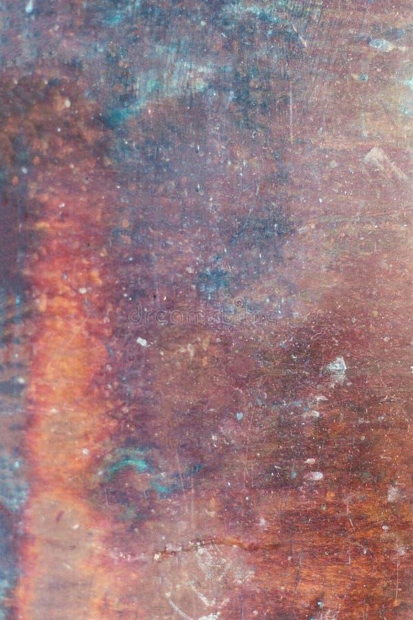 Starego metalu Ośniedziały Textured tło Rozpadowy stalowy metal Backgroun obrazy stock