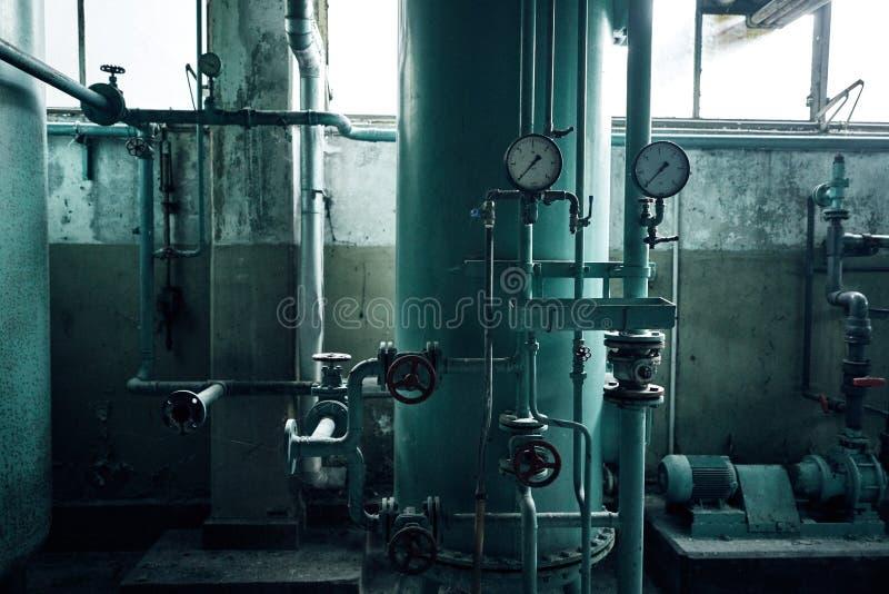 Starego przegranego abandonend budynku przemysłowa fabryczna elektrownia fotografia royalty free