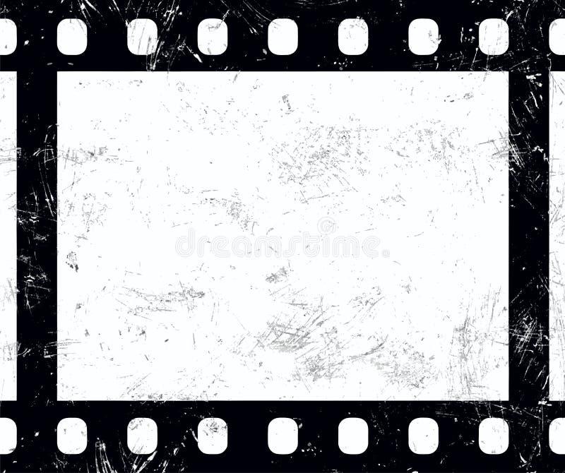 Starego roczników 35 mm retro grunge ekranowa rama royalty ilustracja