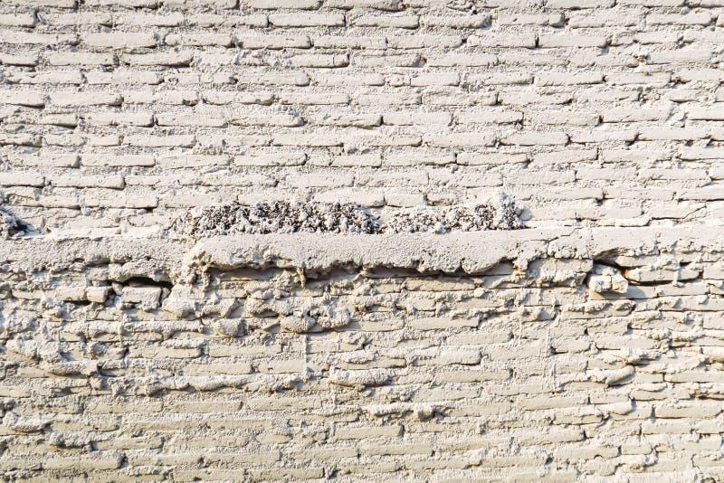 Starego rocznika ściana z cegieł tekstury biały tło fotografia stock