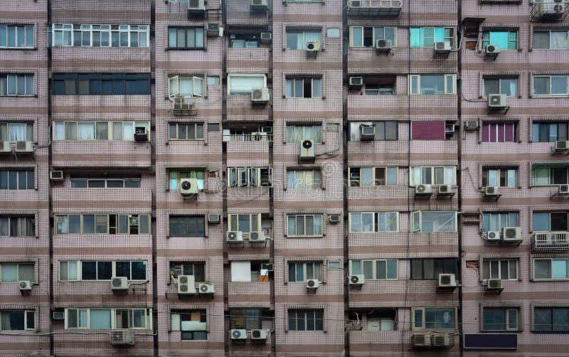 Starego rocznika budynku mieszkaniowego tekstury mieszkaniowy tło obrazy stock