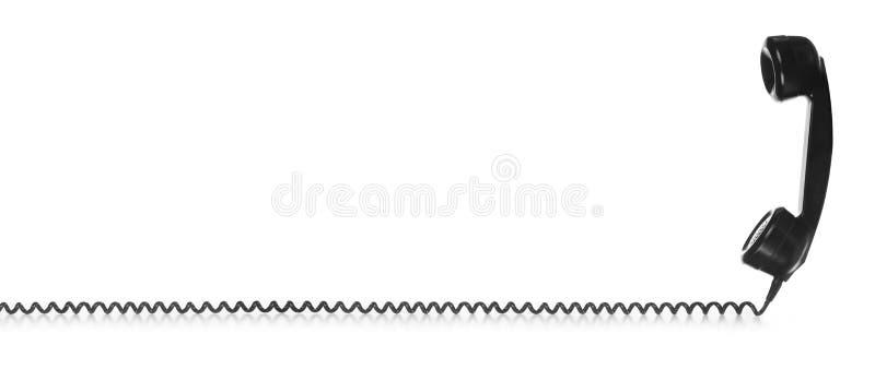 Starego rocznika czerni Telefoniczny handset zdjęcie stock