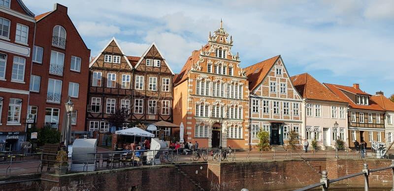 Starego stylu budynki w niemieckiej wiosce zdjęcie royalty free