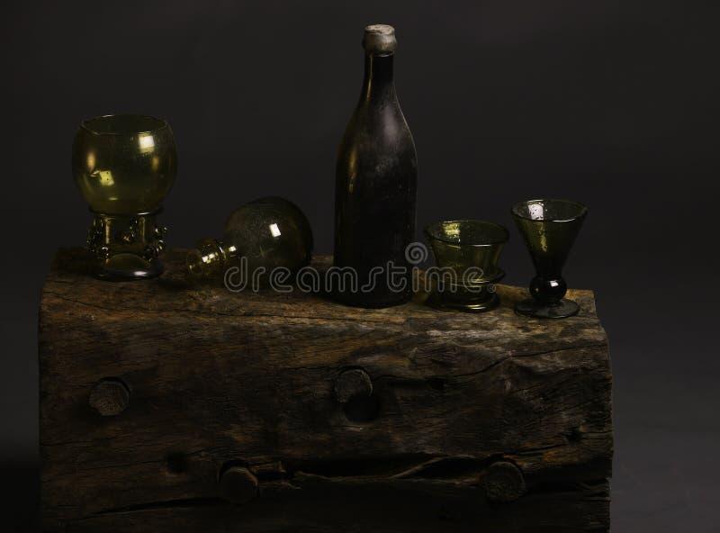 Starego stylu glas butelki zdjęcie royalty free