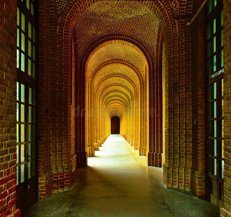 Starego wiktoriański budynku kasztelu korytarza Lasowy instytut badawyczy, Dehradun zdjęcia stock