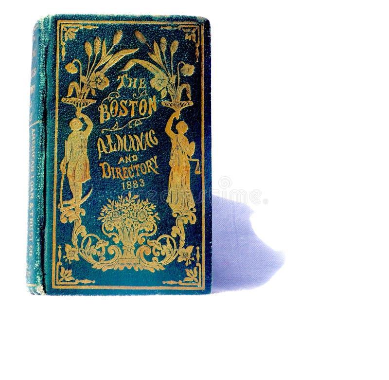 Starego złota książkowej pokrywy almanach zdjęcie royalty free