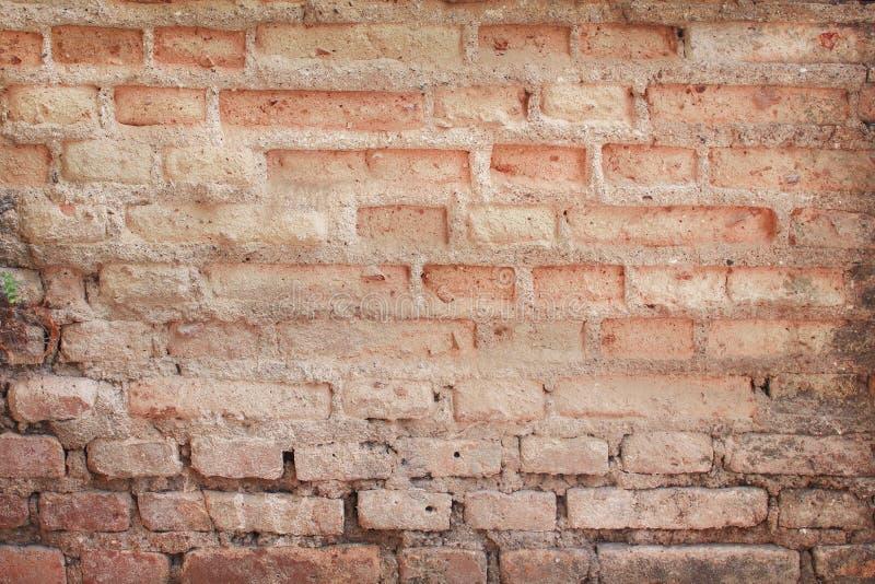 Starej betonowej ściany z cegieł naturalny gnicie deseniuje tekstura abstrakt dla tła zdjęcia stock