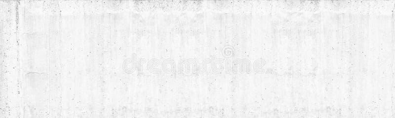 Starej białej betonowej ściany szeroka tekstura Szorstki światło - szarość cementu powierzchni panorama Bia?kuj?cy panoramiczny t zdjęcia royalty free