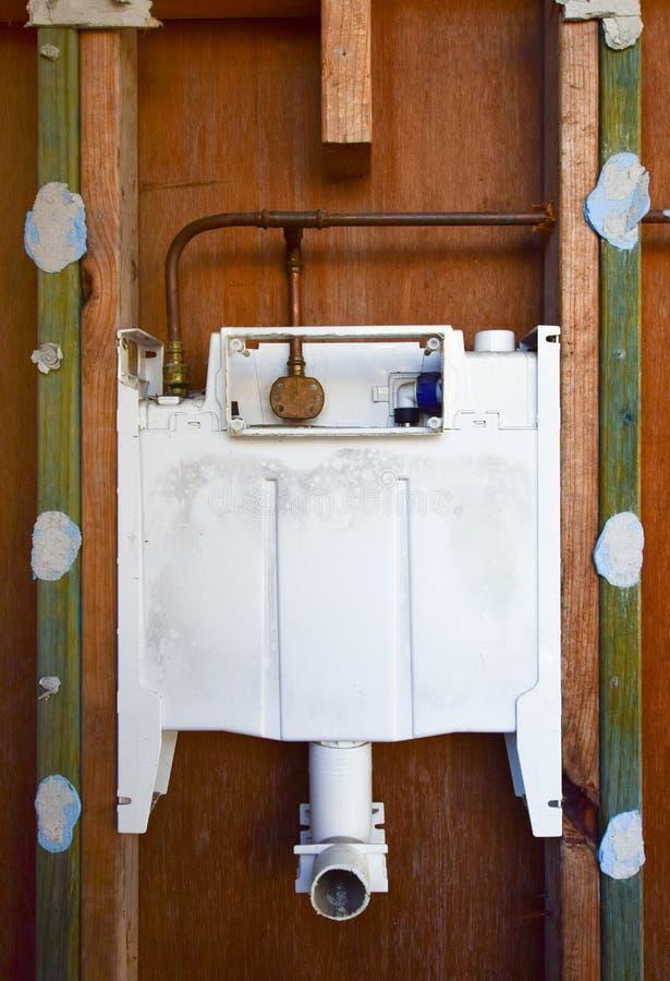 Starej Białej wody klapy drewna Stara brown ściana zdjęcie stock