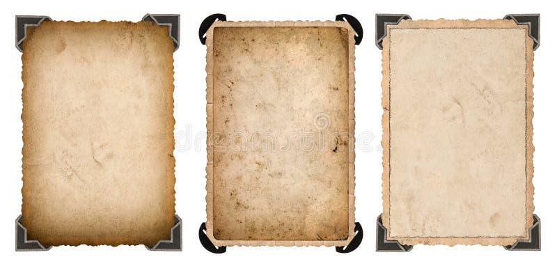 Starej fotografii papierowa karta z kąta i krawędzi rocznika ramą obrazy stock