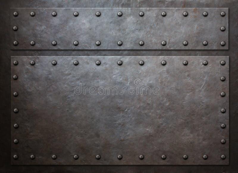 Starej metal kontrpary tła 3d punkowa ilustracja obraz stock