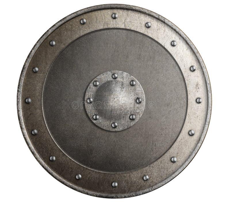 Starej metal osłony odosobniona 3d ilustracja zdjęcie stock