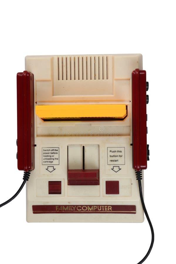 Starej Nintendo rozrywki systemu rodziny Komputerowe i gemowe ładownicy: Chaingmai TAJLANDIA, MARZEC, - 24, 2019 obrazy stock