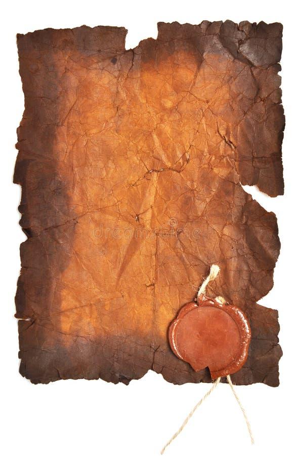 starej papierowej foki prawdziwy wosk obraz stock