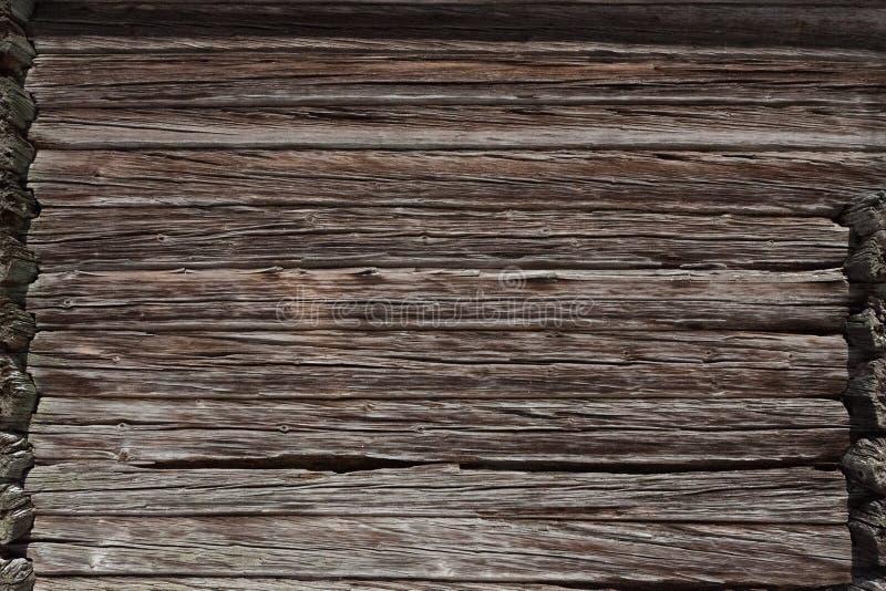 Starej stajni drewniany ścienny outside zdjęcia royalty free