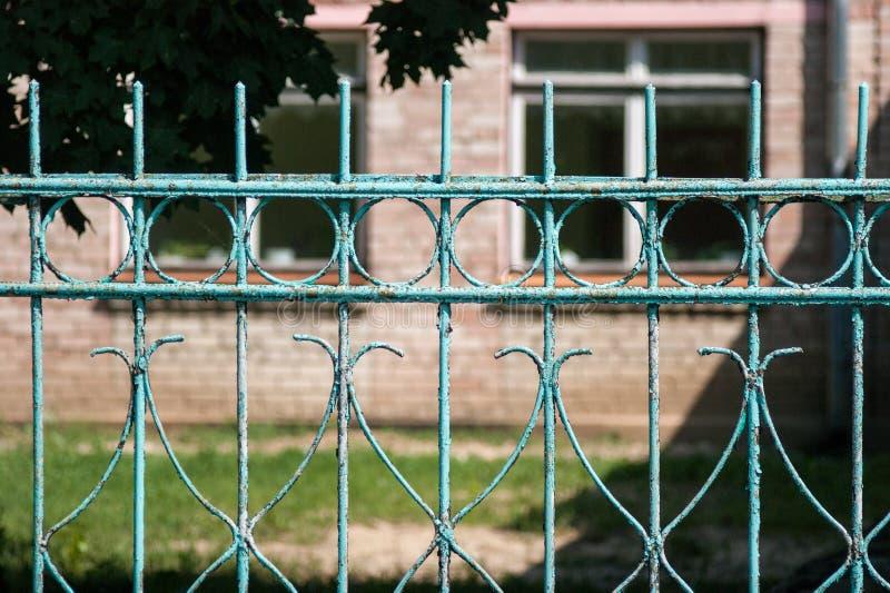 Starej szkoły ogrodzenie zdjęcia royalty free