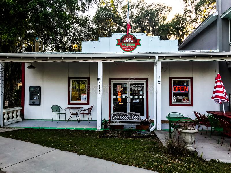 Starej Szkoły pizzeria, Portowy Królewski, Południowa Karolina obraz royalty free