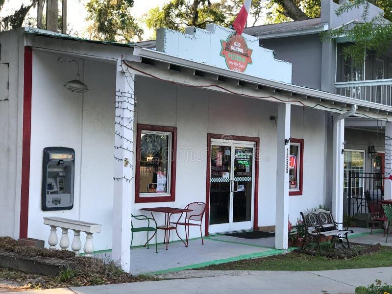 Starej Szkoły pizzeria, Portowy Królewski, Południowa Karolina fotografia stock