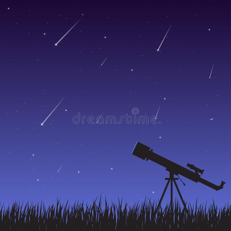 Starfall y telescopio libre illustration