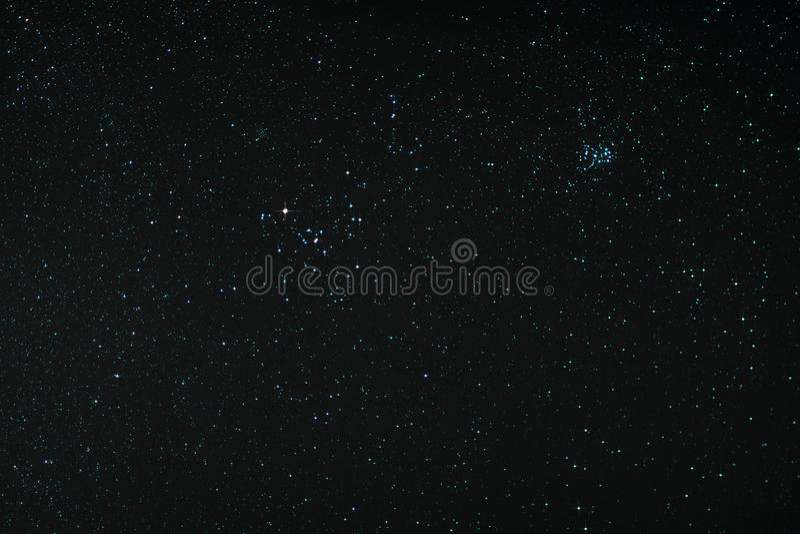 Starfield с Тавром и Pleiades стоковое фото rf
