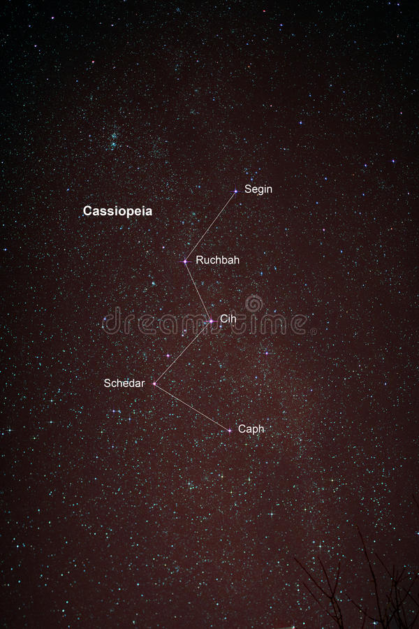 Starfield with Cassiopeia and Milky Way. Astro Photo: Starfield with Cassiopeia and Milky Way stock photography