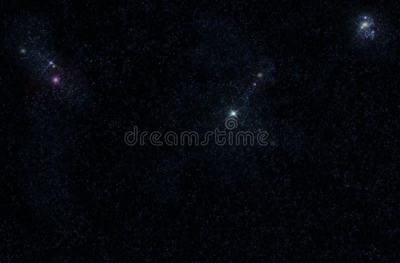 Starfield with cosmic Nebula stock photos