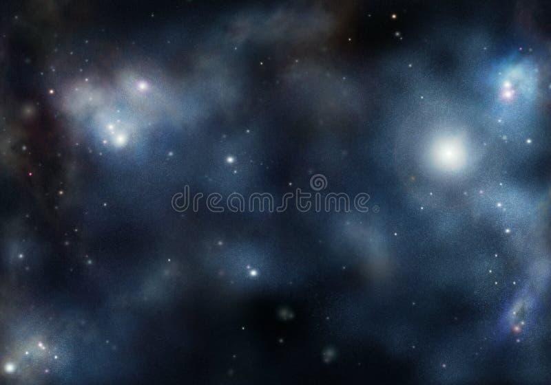 Starfield with cosmic Nebula royalty free illustration