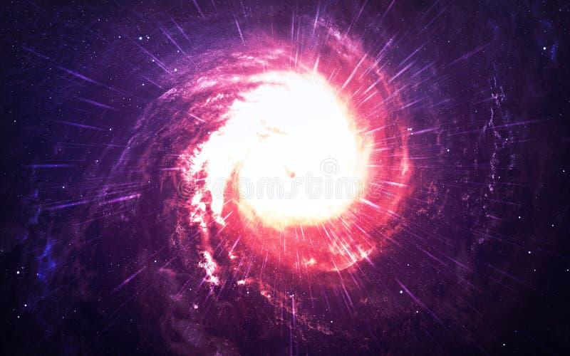 Starfield en espacio profundo muchos años luz lejos de la tierra Elementos de esta imagen equipados por la NASA imagen de archivo