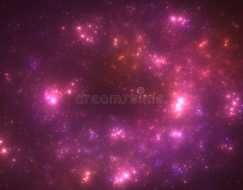 Starfield foncé d'espace lointain illustration stock