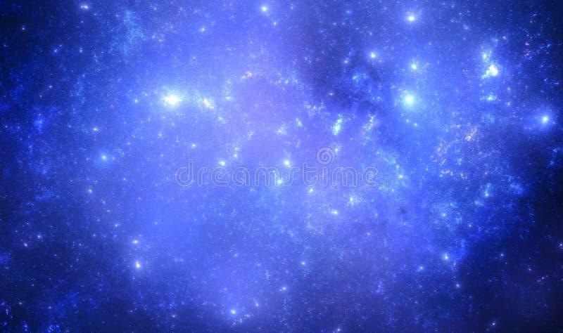 Starfield foncé d'espace lointain illustration libre de droits