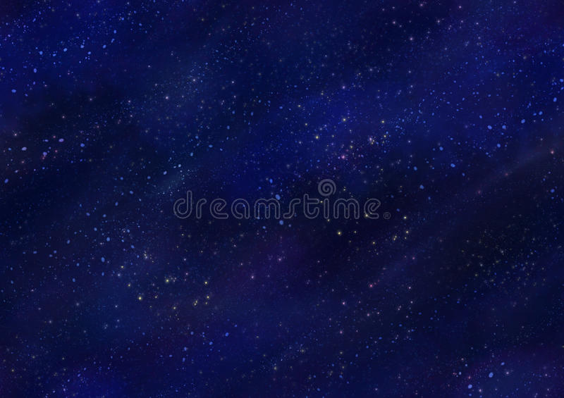 Starfield Night Sky Seamless Tile. Dark blue night sky with scattered stars seamless background texture tile royalty free stock image