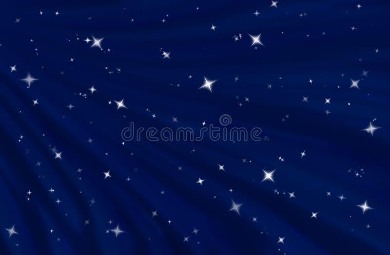 Starfield no céu nocturno estrelado ilustração royalty free