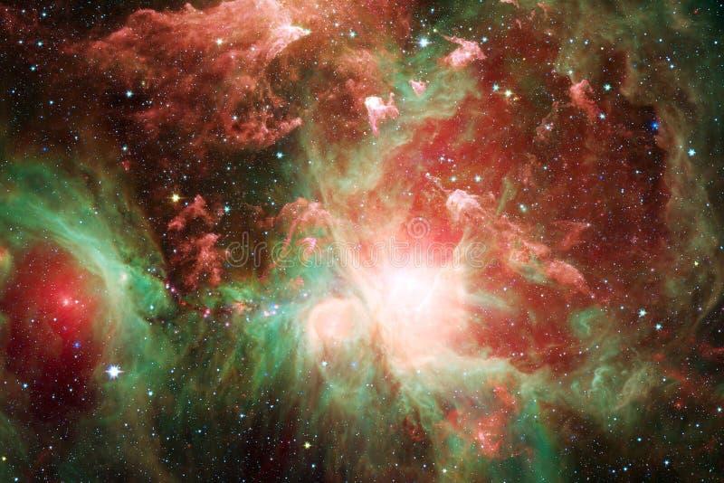 Starfield stardust en nevel in eindeloos mooi heelal Elementen van dit die beeld door NASA wordt geleverd stock illustratie