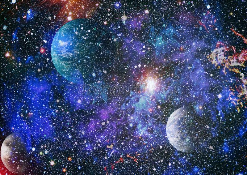 Starfield-stardust und Nebelfleckraum Kreativer Hintergrund der Galaxie Elemente dieses Bildes geliefert von der NASA vektor abbildung