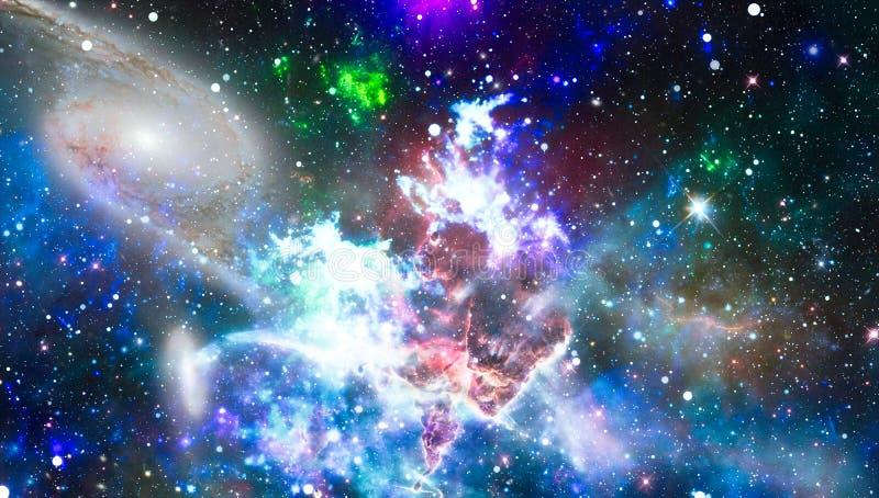 Starfield-stardust und Nebelfleckraum Kreativer Hintergrund der Galaxie Elemente dieses Bildes geliefert von der NASA stock abbildung