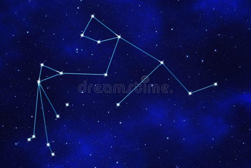 Starfield tło zodiakalny symbol royalty ilustracja