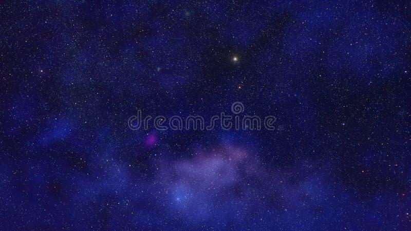 Starfield vor Nebelflecken stock abbildung