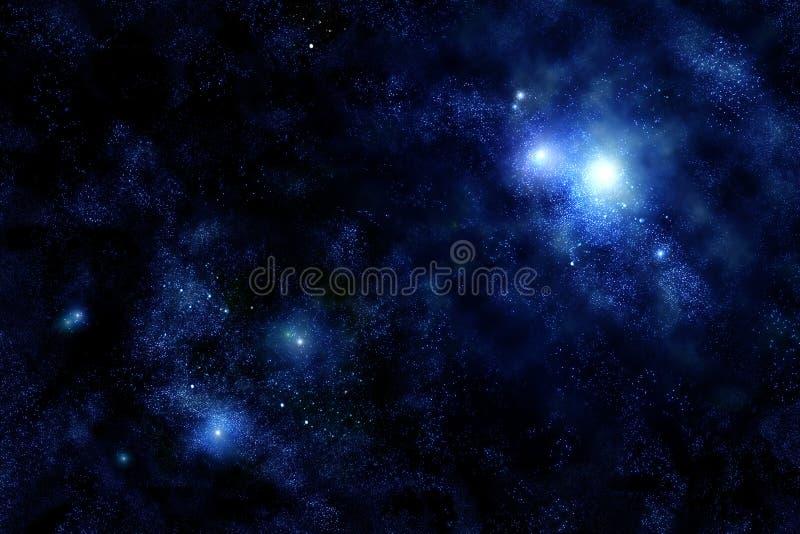 starfield wszechświata. ilustracja wektor