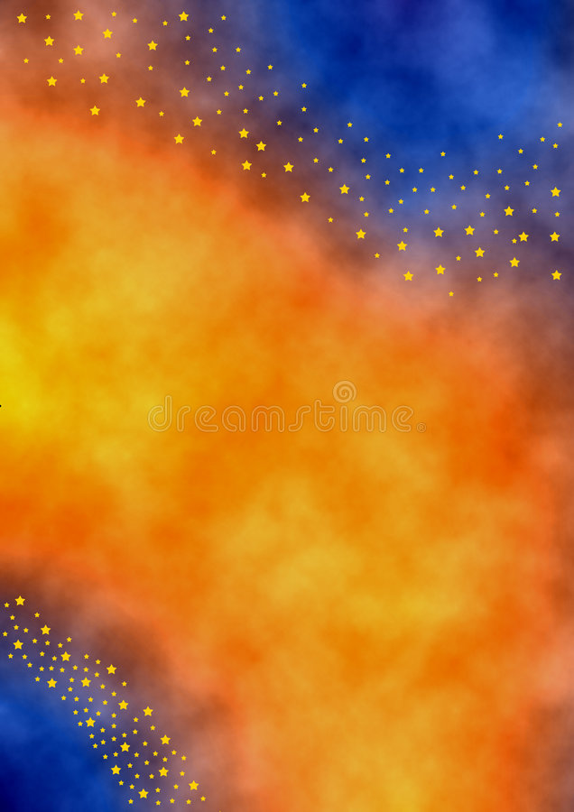 Starfields. Multicolored background in wet aquarell style with a starbanner out of many little stars vector illustration