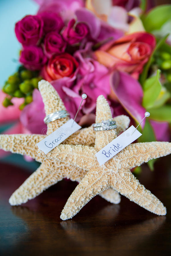Starfish венчания   стоковая фотография