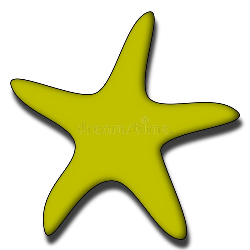 Download Starfish stock illustration. Image of colorful, print, creature - 504269