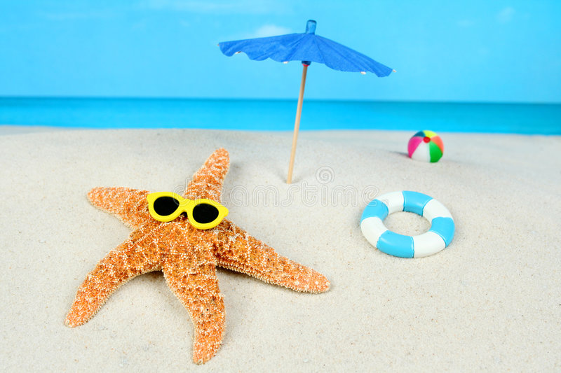 Download Starfish On The Beach Stock Image - Image: 7208101