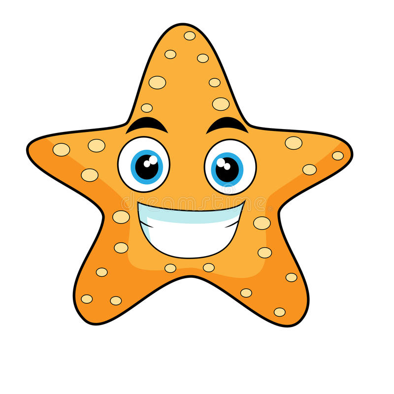 Starfish de vista bonitos ilustração royalty free