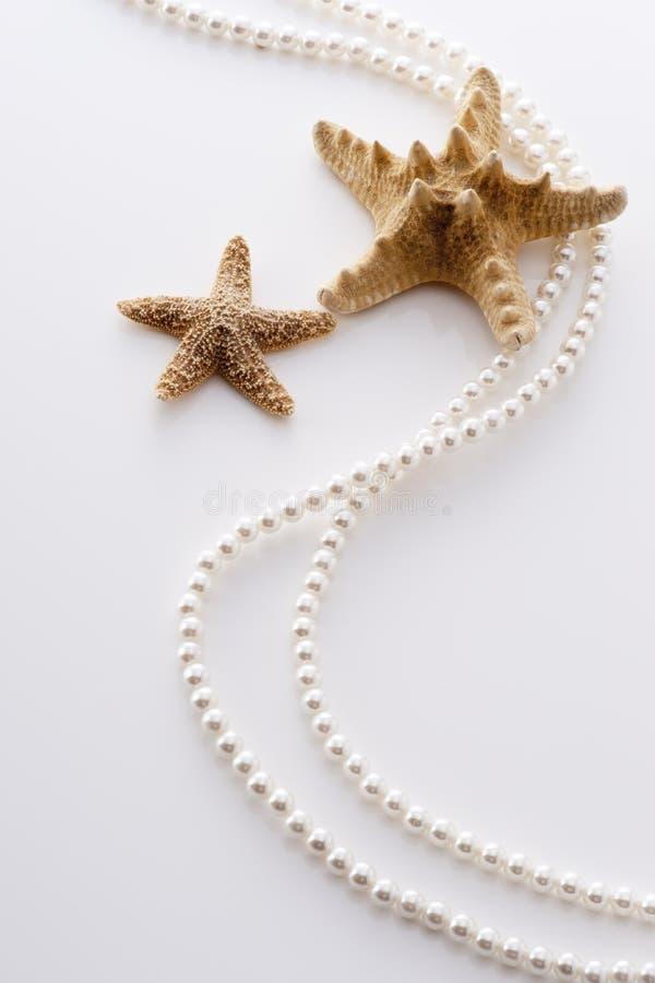 Starfish e pérola fotos de stock