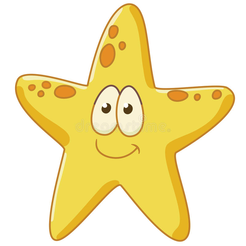 Starfish is glad royalty free stock photos